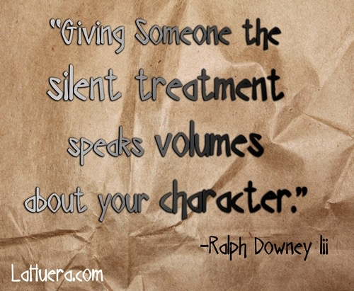 Silent Treatments is Abuse